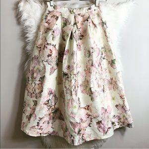 ASOS••True Decadence Tall metallic floral skirt